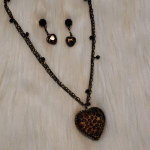 Betsey Johnson Necklace & Earrings